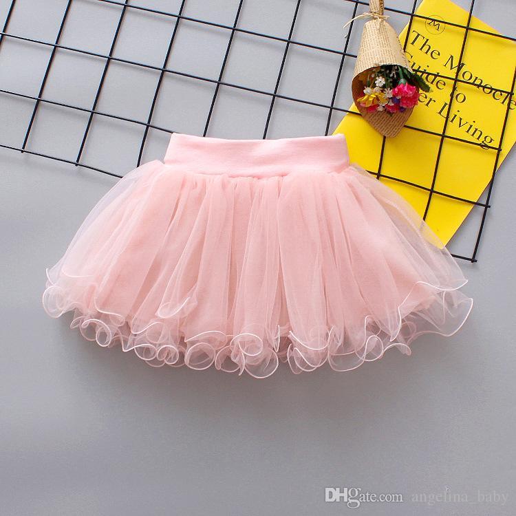 Summer Flowers Gauze skirt for Kids Children Short Party Dance Skirt Baby Girls TUTU Skirts Princess Party Costumes