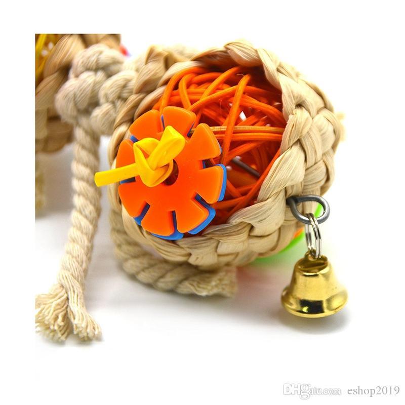 Papagei Spielzeug Ball Haustier Vogel Bites Klettern Kauspielzeug Hängende Nymphensittich Parakeet Schaukel Papagei Käfig Vogel Spielzeug
