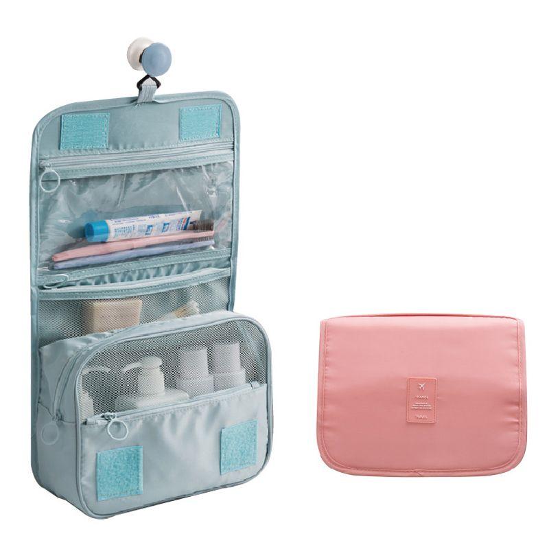 b56203b8614b New Folding Hanging Travel Cosmetic Bag Women Cosmetics Cases Make Up Bag  Travel Toiletry Bags