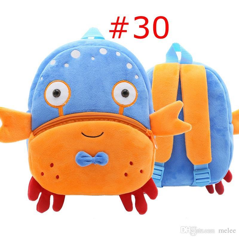 Retail Turket Kids Mermaid Unicorn Animal Zoo Cartoon Backpack Bags