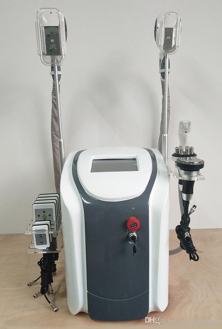 6 en 1 Zeltiq máquina de reezing de grasa cryolipolysis cintura adelgazante cryotherapy 40K cavitación rf reducción de grasa RF lipo láser CE / DHL