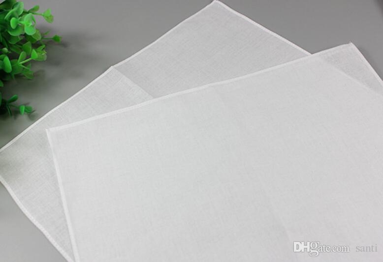 화이트 손수건, 순수한 흰색 손수건, 순수한 색 작은 광장, 면직물 수건, 일반 손수건