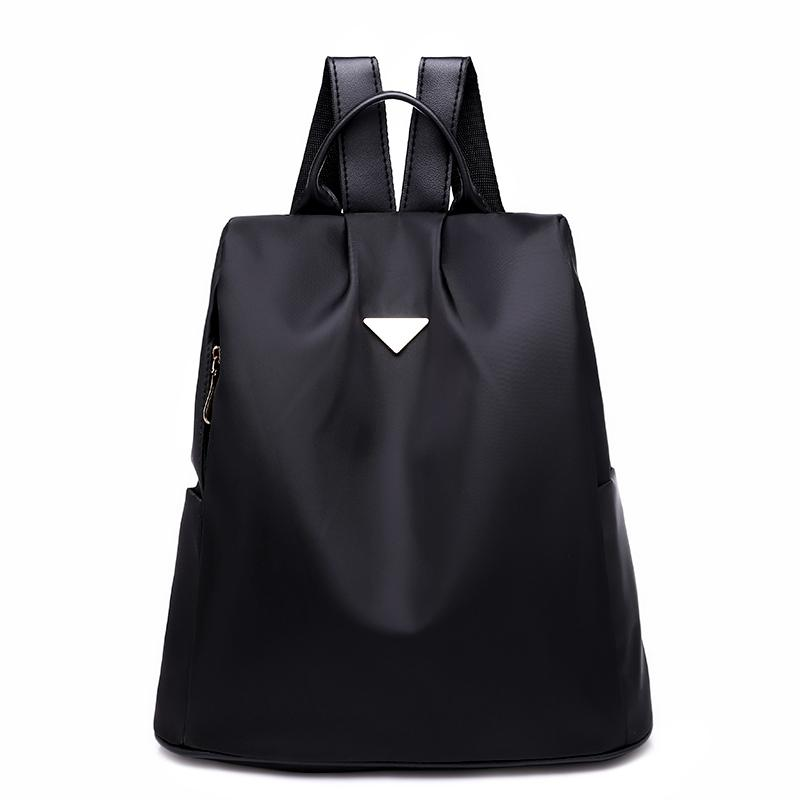 f4d83caa46 Shoulder Bag 2018 Female Fashion New Korean Version Of The Tide Leisure  Casual Anti Theft Nylon Canvas Travel Backpack Black Backpack Camera  Backpack From ...