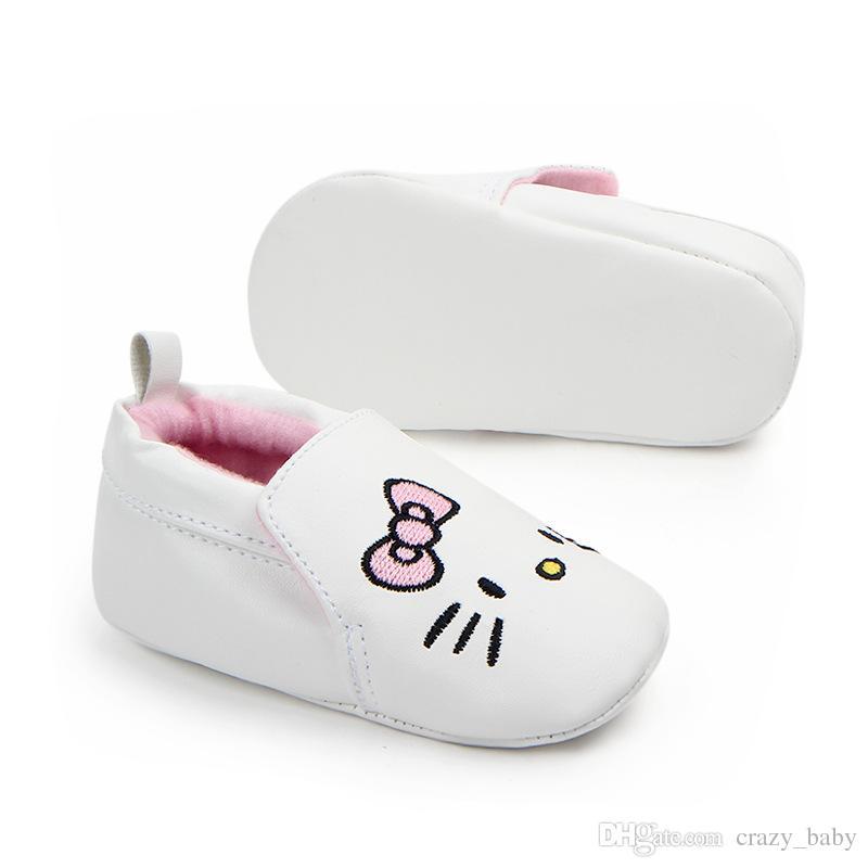 Zapatos para bebés recién nacidos Primeros andadores Suela blanda Gatos Zapatos de cuna Zapatilla antideslizante Prewalker Bebé Zapatos de las niñas Primavera