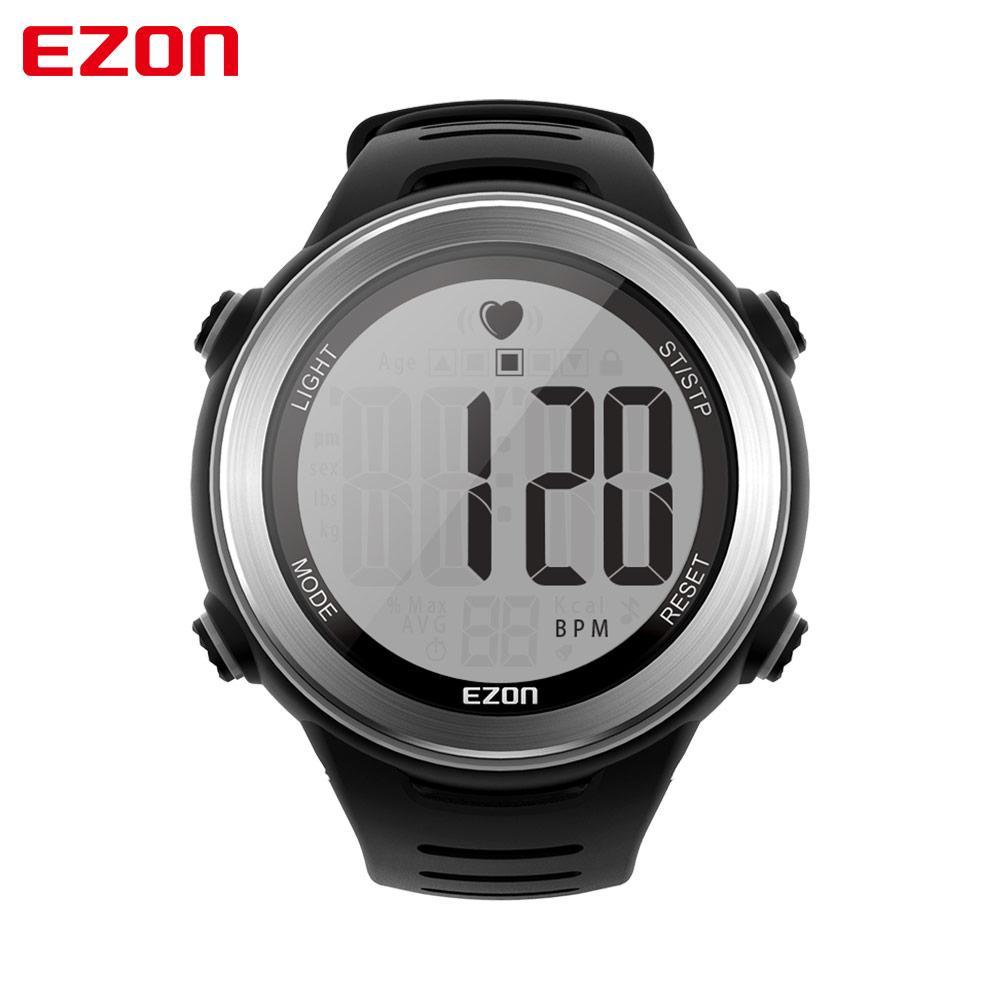 9d8c92b6f670 Compre Nueva Llegada EZON T007 Monitor De Ritmo Cardíaco Reloj Digital  Alarma Cronómetro Hombres Mujeres Correr Relojes Deportivos Con Correa En  El Pecho A ...