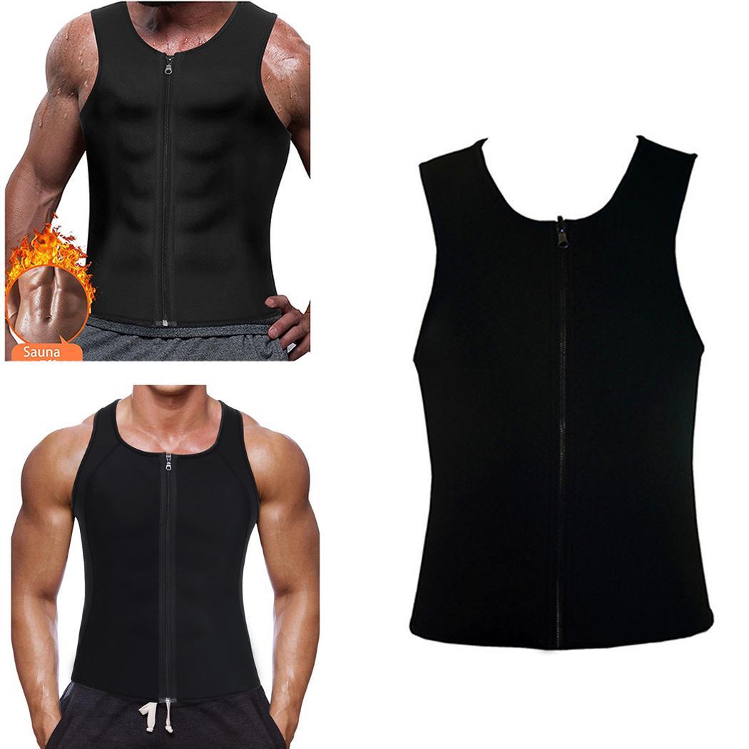 f3fc22988d9 Mens Slimming Vest Body Shaper Neoprene Abdomen Fat Burning Waist  Shaperwear Slimming Belt Belly Sweat Corset Weight Loss Online with   25.45 Piece on ...