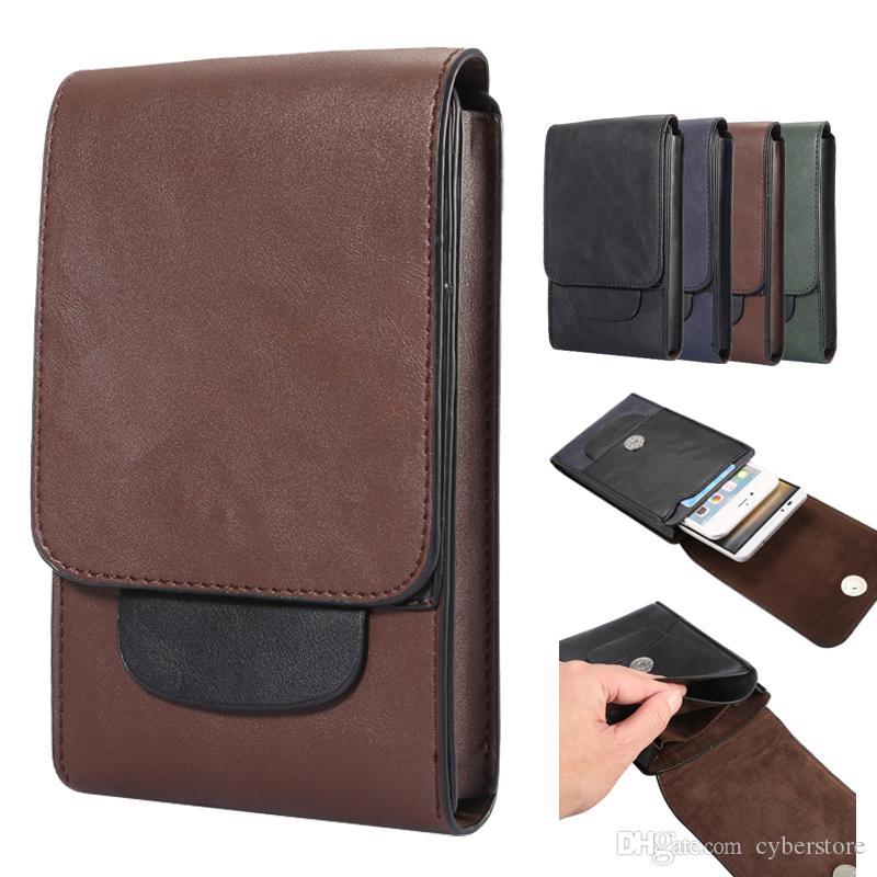 wholesale dealer 76b87 33179 Universal PU Leather Phone Case Outdoor Dual Bags Waist Belt Pouch Holder  For iPhone X 7 Plus Samsung S9 S8 Note 8