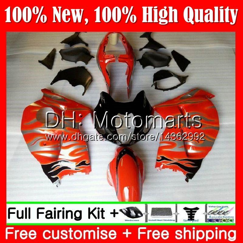 Cuerpo para SUZUKI Hayabusa GSXR1300 96 07 GSX R1300 56MT89 GSXR-1300 Orange blk GSXR 1300 1996 1997 1998 1999 2000 2001 Fairing Bodywork