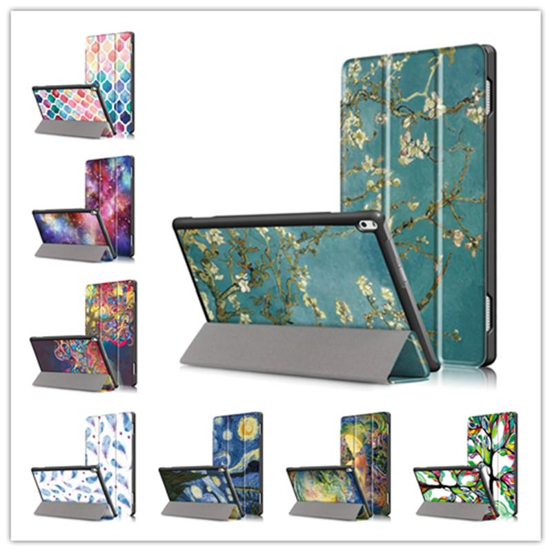 timeless design 2cfb3 4a7f7 Colorful PU Leather Flip Cover Case For Lenovo TAB 4 10 TB-X304F TB-X304N  Auto sleep Protective Magnet Case for Lenovo TAB 4 10