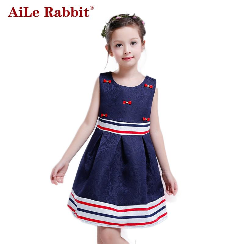 d8d04e1a94 New Summer Girl Dress Party Dresses For Teenage Girl Dress Ceremonies Bow  Striped Kids Children Clothes
