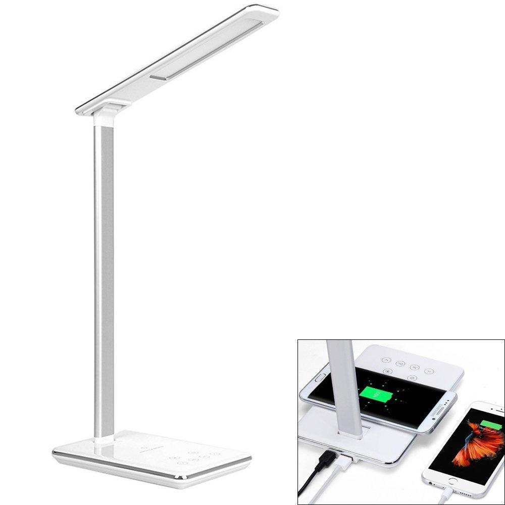 2019 Led Desk Lamp Qi Wireless Charger Pad For Qi Enabled