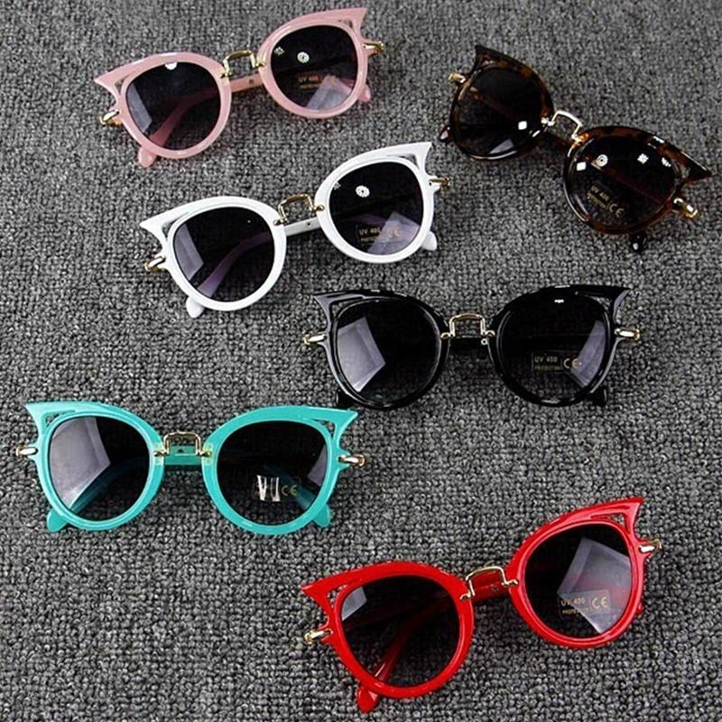 fd17ae52a4fd 2019 Cat Eye Kids Sunglasses Boy Girl Fashion UV Protection Sun Glasses  Simple Cute Eyeglasses Frame Child Eyewear Summer Beach Accessories Kids   From ...