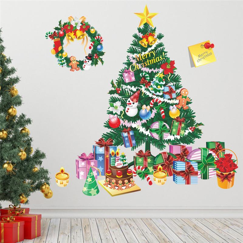 Großhandel Weihnachtsbaum Geschenk Wandaufkleber Wohnzimmer ...