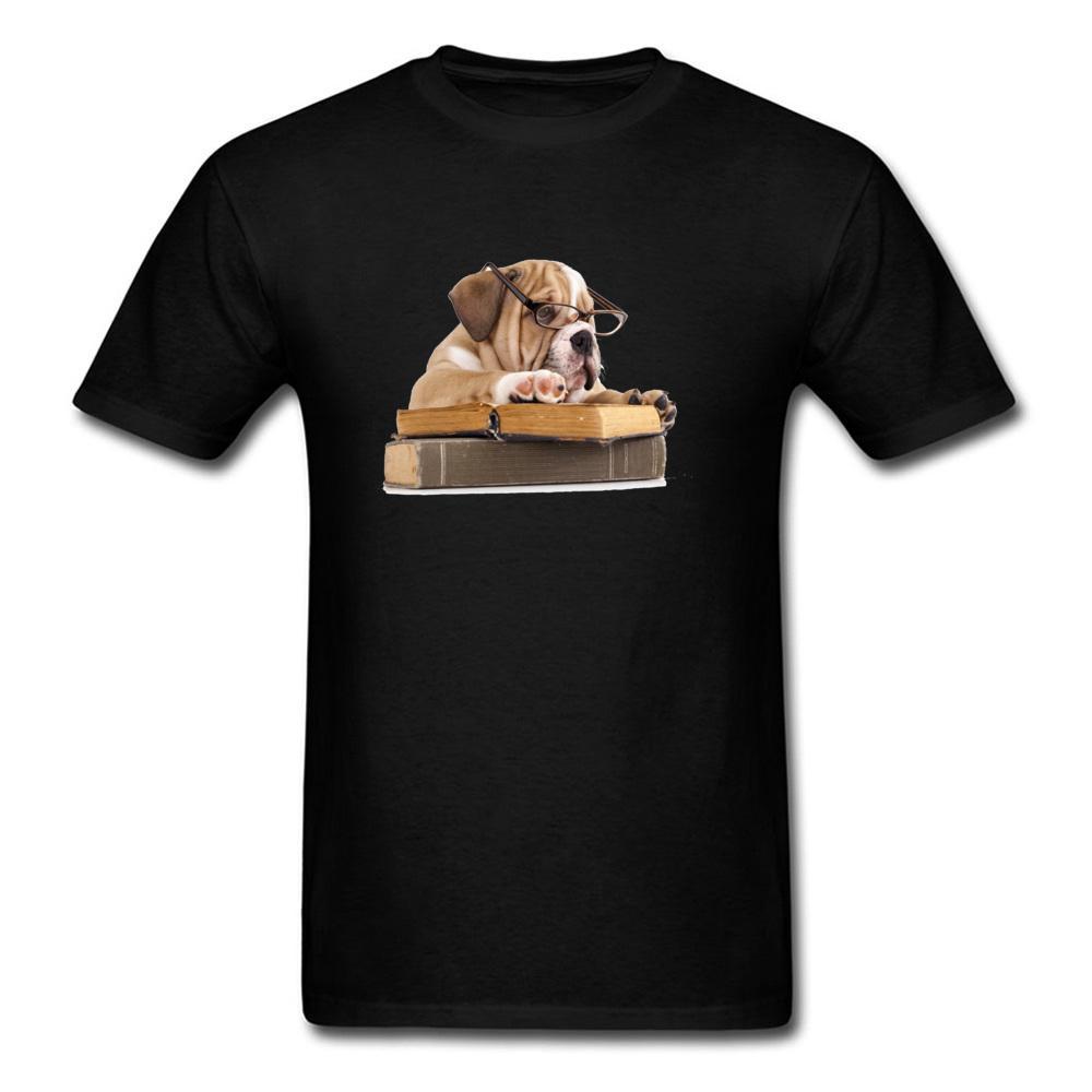 98caf2133 Pug Scholar 2018 Latest Men Black T Shirt Animal Print Top Quality Cotton T  Shirt Custom Father'S Day Novelty Gifts Funny T Shirt Prints Funky T Shirt  ...