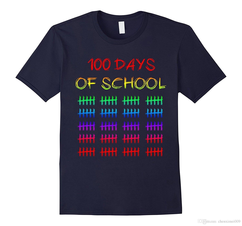 Scuola Divertenti Idea Day 100 Giorni Shirt T Di Bambini Acquista OuwkXiTPlZ