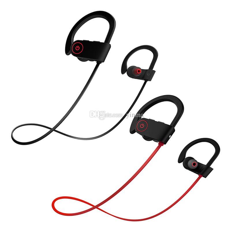 ea349aed499 Ear Hook Sports Wireless Bluetooth Earphones With Mic HD Bass Stereo  Headsets IPX7 Waterproof Sweatproof Earbuds Headphones Audiophile Headphones  Best Dj ...