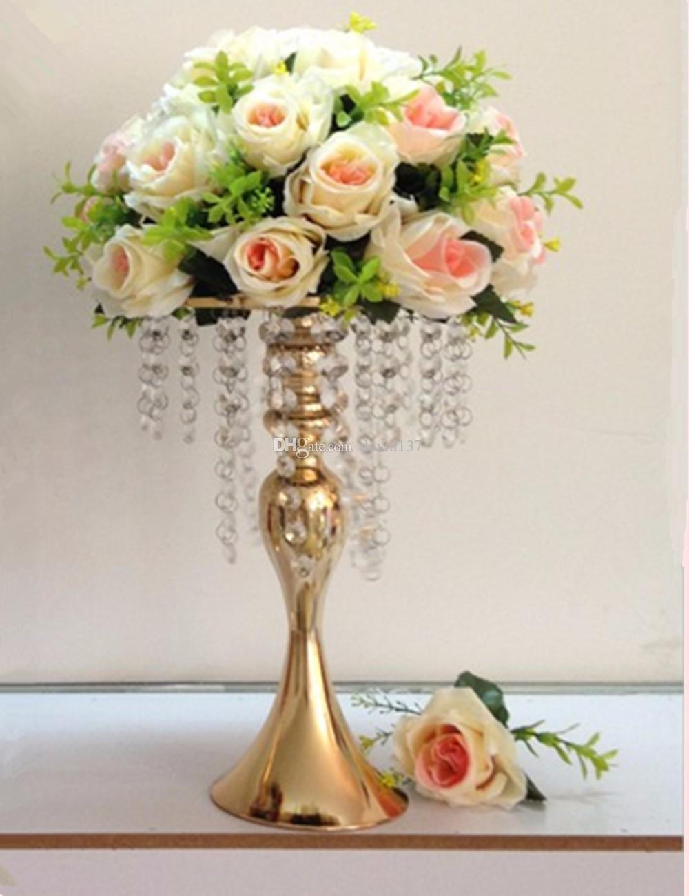 clear trumpet vase wedding table centerpiece flower holder centerpiece reversible crystal aisle vase