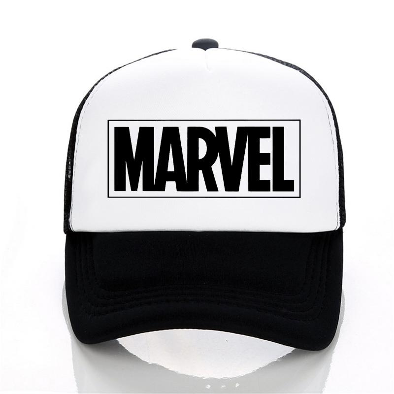 MARVEL Letter Baseball Caps Summer Leisure Adjustable Hats Mesh ... e1be449beb1
