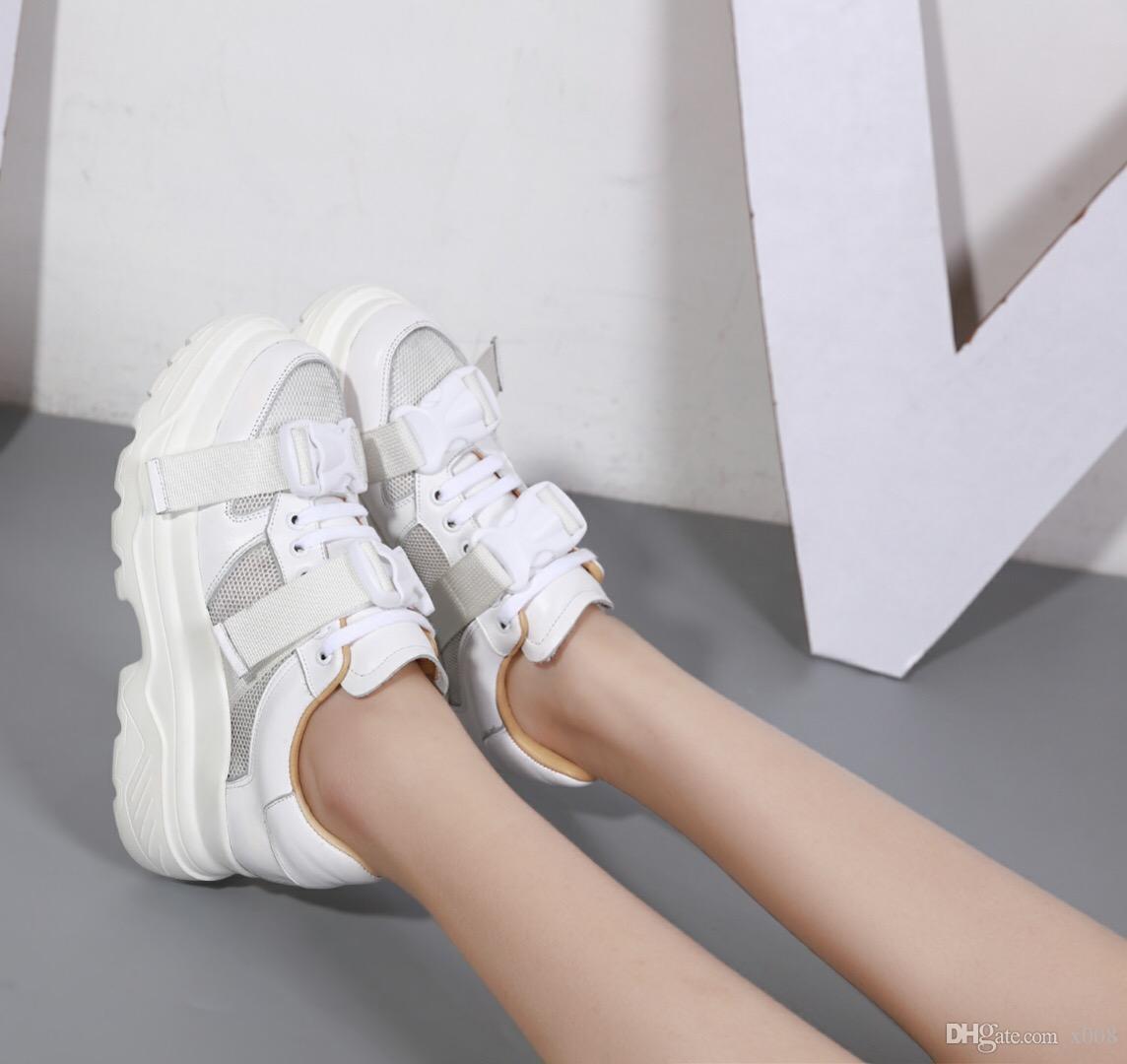 new products d2d47 affd0 2018 Nuove Donne Calde Sneakers Lace Up Della Piattaforma Donna Creepers  Scarpe Basse Casuali Femminili Scarpe Tenis Feminino Espadrillas