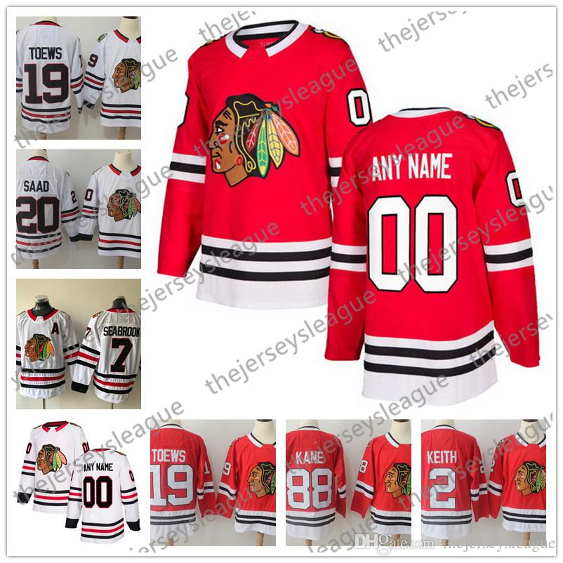 b2bb22dfb 2019 Custom Chicago Blackhawks Any Number Any Name 2018 New Brand Red Home  White Stitched  00 Griswold Keith Ice Hockey Jerseys S 60 From  Thejerseysleague