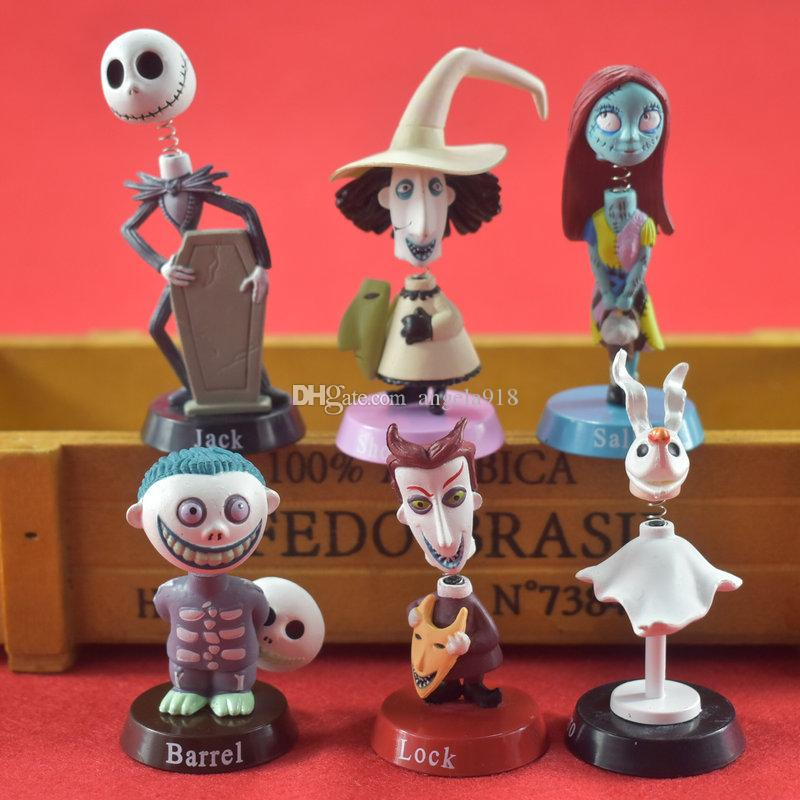 The Nightmare Before Christmas Action Figures Toys cartoon Jack Decoration model for children Christmas Halloween gift 6 styles/set C5041