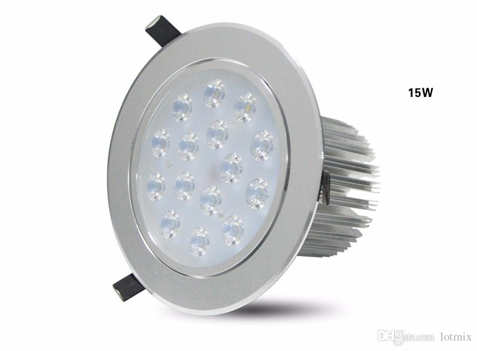 3W 5W 7W 9W 12W 15W 18W 85-265V LED Downlight Empotrable Techo Lámpara de proyector de pared Luz del panel Spot bombilla + Driver