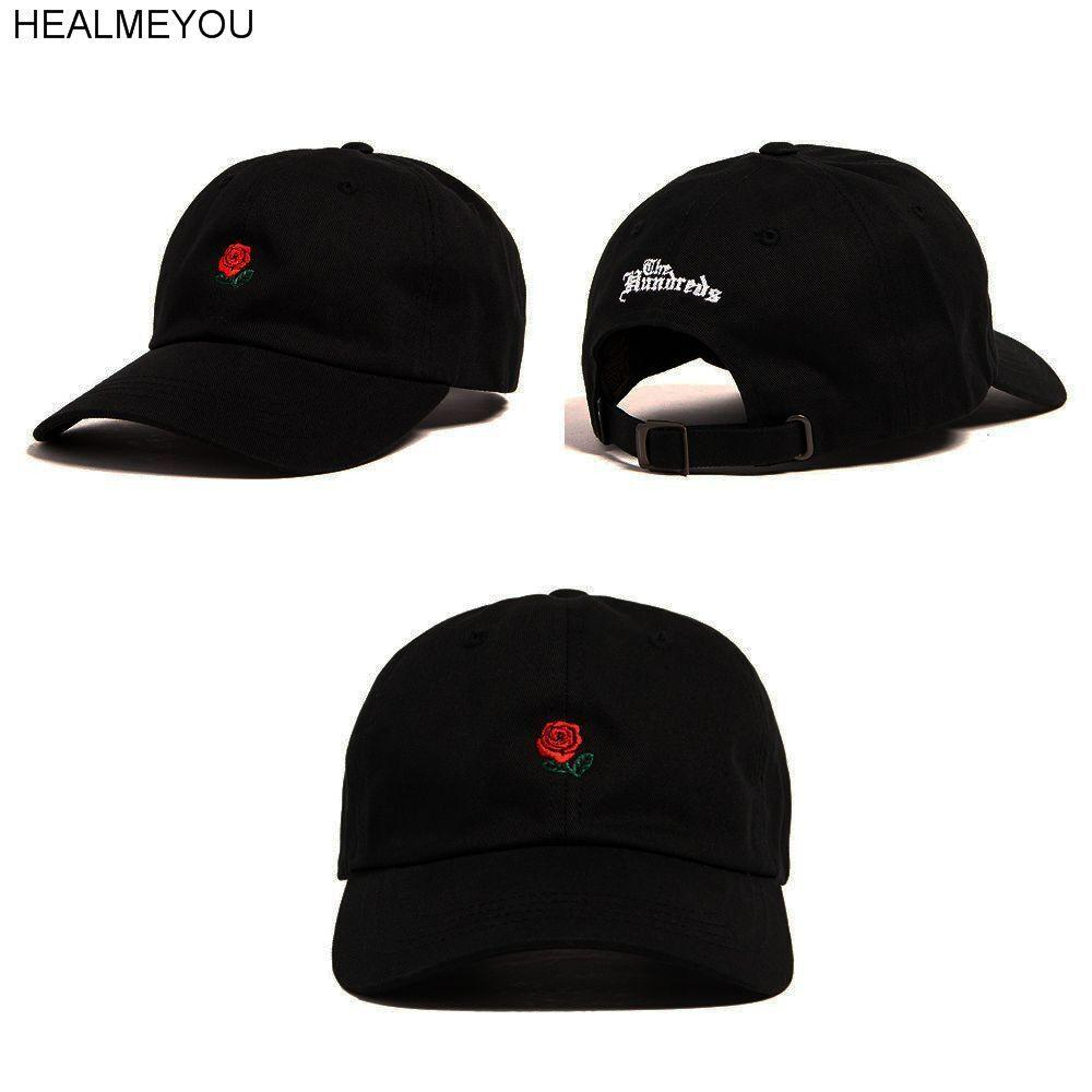 Fashion Unisex Dad Hat Flower Rose Embroidered Curved Brim Baseball Cap  Visor Hat Beanies From Nectarine99 4c81887697e