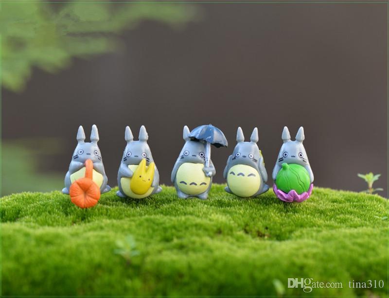 Mini Totoro Statue Jardin Miniatures BRICOLAGE Figurines Micro Moss Paysage Décoration En Plastique artisanat / T2I121