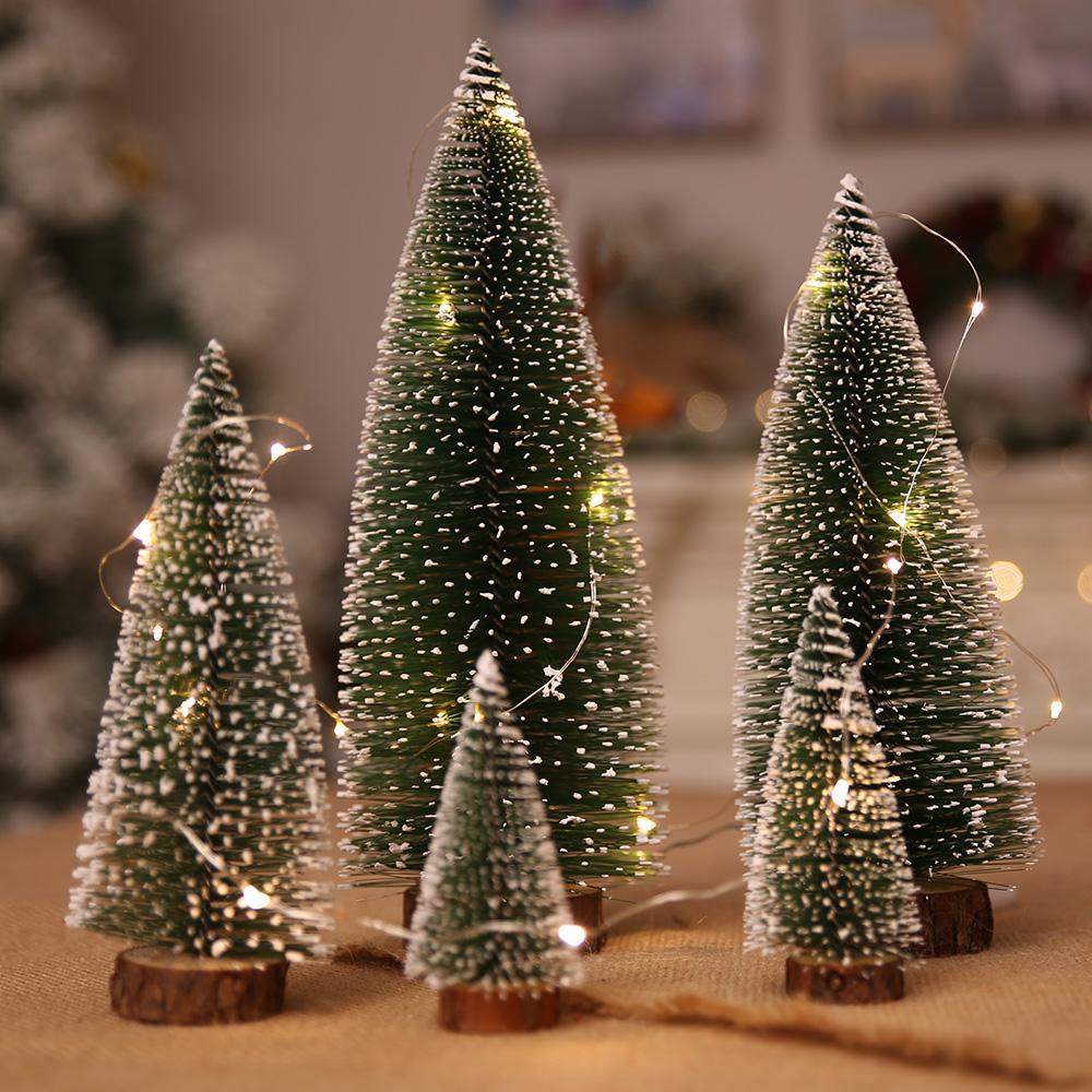 Gro handel 5 st cke mini weihnachtsbaum stick wei 5 gr e desktop kleine weihnachten kleine - Blinkender weihnachtsbaum ...