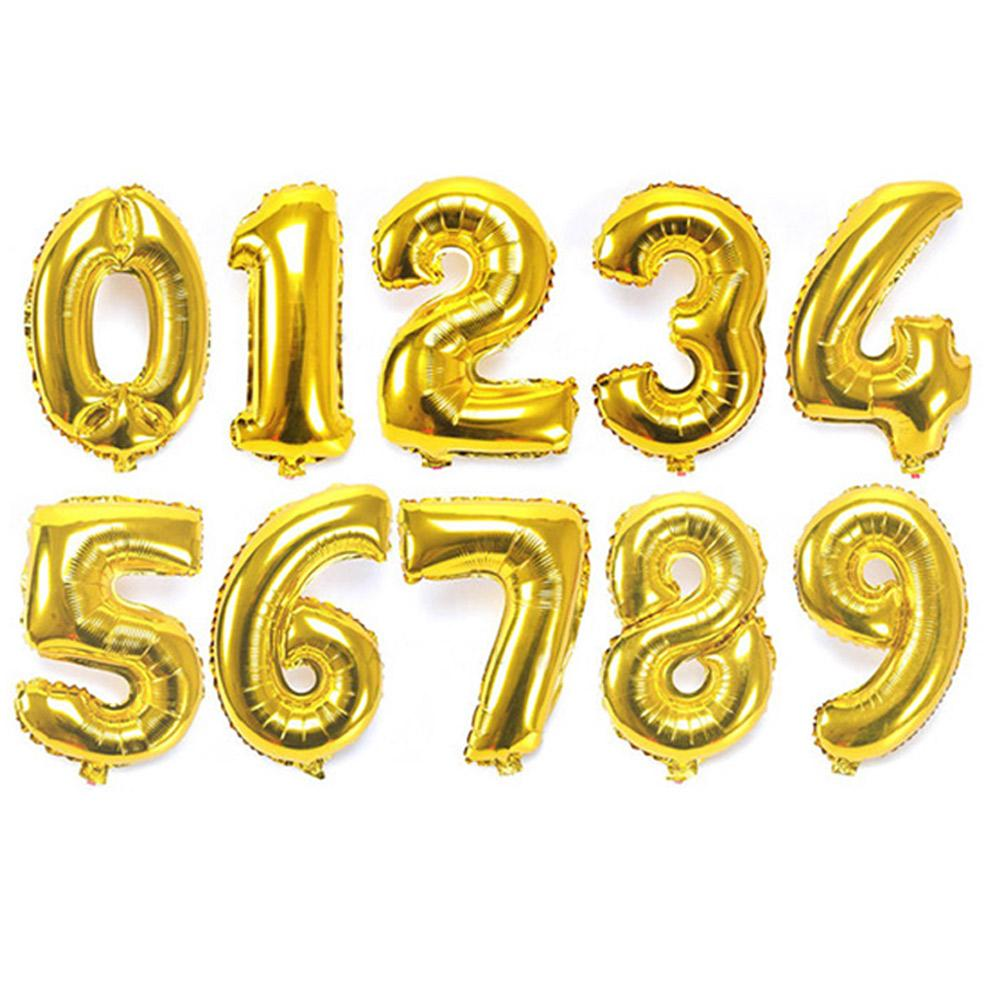 2019 Gold 32 Inches Number Birthday Balloons Digit Foil Helium Ballons Party Wedding Event Air Balloon Inflatable Toy From Lou88 2935