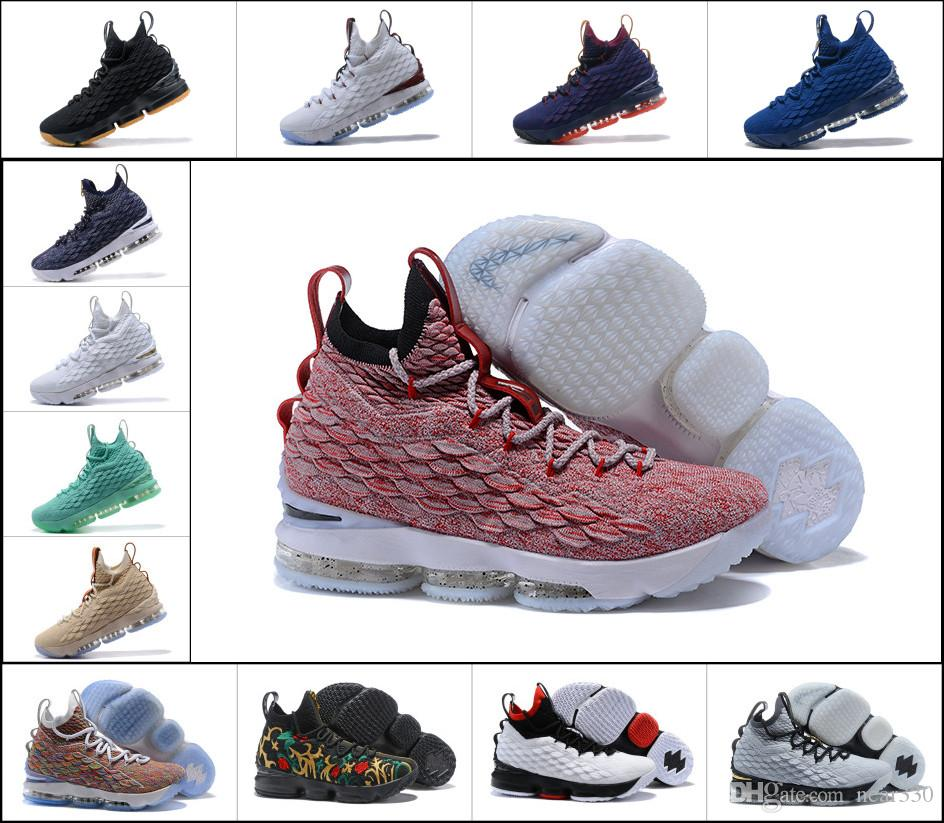 d3f9942f8fe4 2019 2018 New Lebron 15 Graffiti Lebrons 15s Outdoors Shoes Ghost Red Grey  Mens Ashes Cavs Equality Sneakers Size 7 12 From Near330