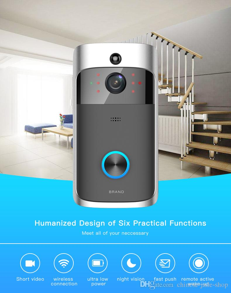 M5 Wireless Video Doorbell WIFI Remote Intercom Detection Electronic HD Visible Monitor Night Vision