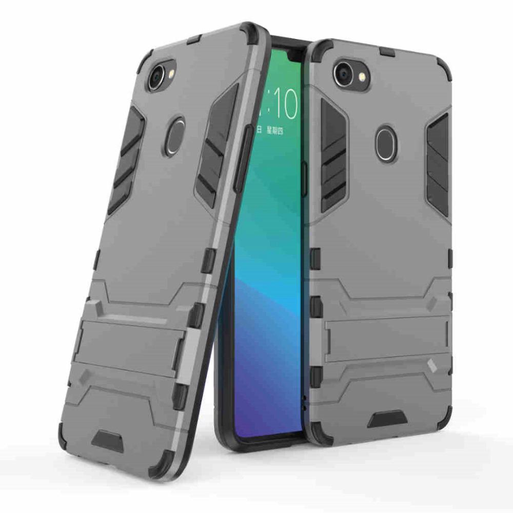 newest collection 9db14 8d33c For OPPO F7 Case Slim Robot Armor Rubber Capa FOR Phone Case OPPO F7 2018  Cases
