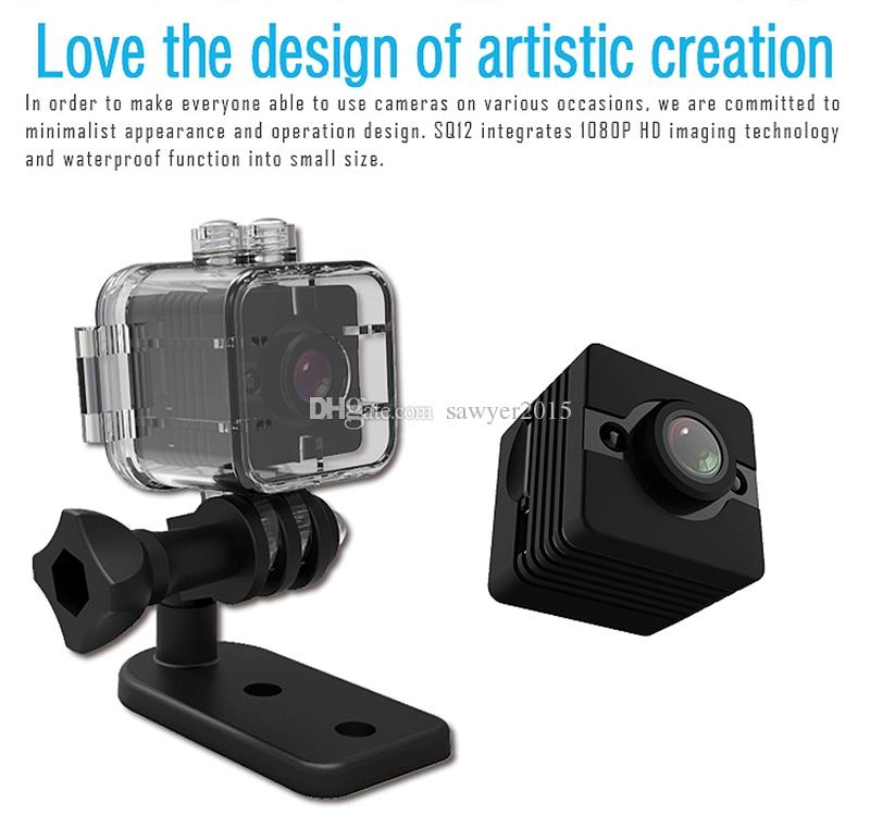 Waterproof 155 degree Wide-angle Lens HD 1080P MINI DV DVR SQ12 Mini Sport Video Camera WITH infrared night vision motion detection