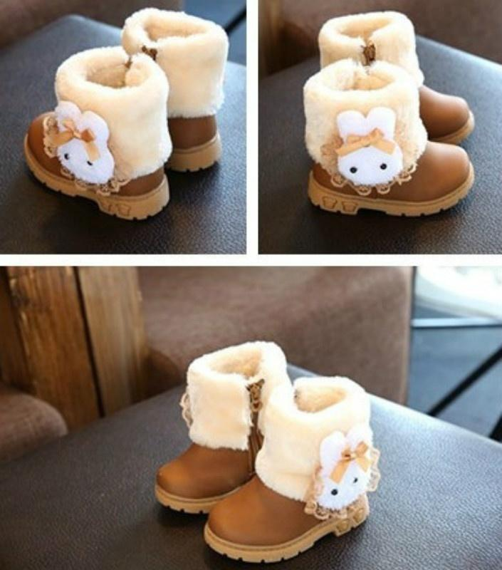 Children Winter Boots Kid Baby Warm And Soft Shoes Fur Rabbit Snow Boots  For Girls Fashion Comfortable Shoes For Child Kids Winter Boot Sale Kids  Fashion ... e1e8a2c4e