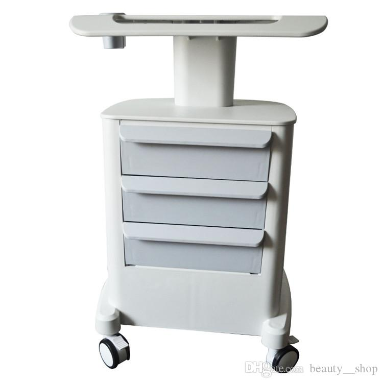 Trolley Stand Roller Mobile Medical Cart With Drawers Assembled Stand Holder For Salon Spa HIFU Machine Fast Shipping