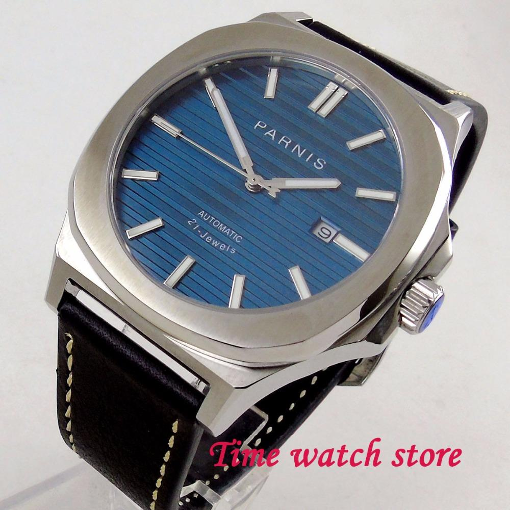 95bae495f watch 44mm square case blue dial luminous hands sapphire glass 21 jewel  MIYOTA Automatic movement Men s watch men 1208