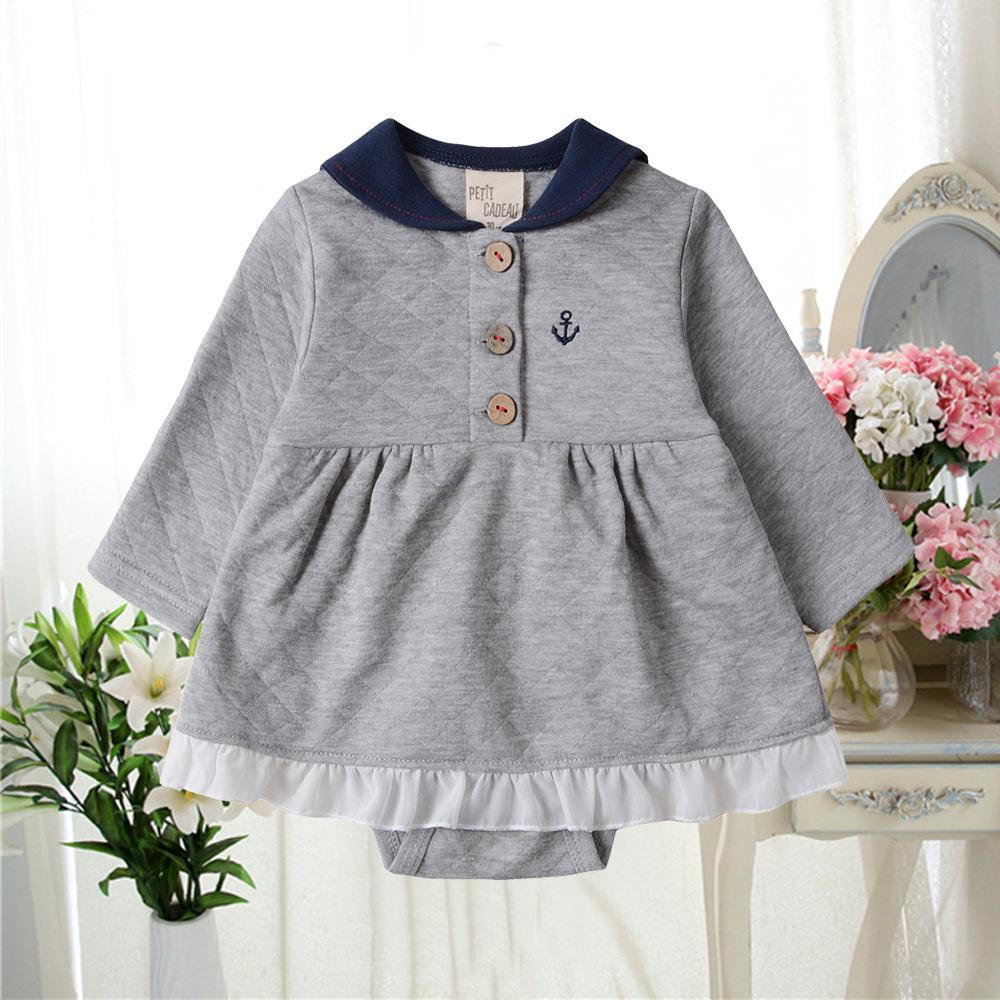 a3902de19ab4 Baby Girl Clothes Newborn Romper Air Layer 100% Cotton Autumn And ...