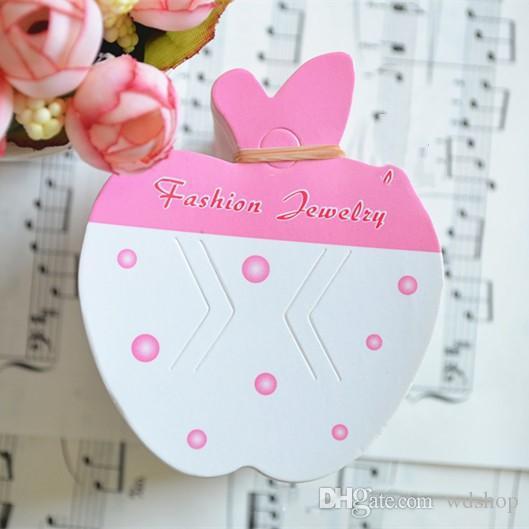 Großhandel 600 Teile / los HOT Charme Bowknot Erdbeere Apple Blume Bogen Haarspange Haargreifer Hairgrips Hängende Karte Display