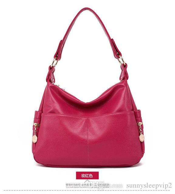 VCrossbody Bags for Women Genuine Leather Messenger Tote Bags Handbags Women  Famous Brands Shoulder Bag European American Fashion Backpack Travel Bag ... d67c939faf