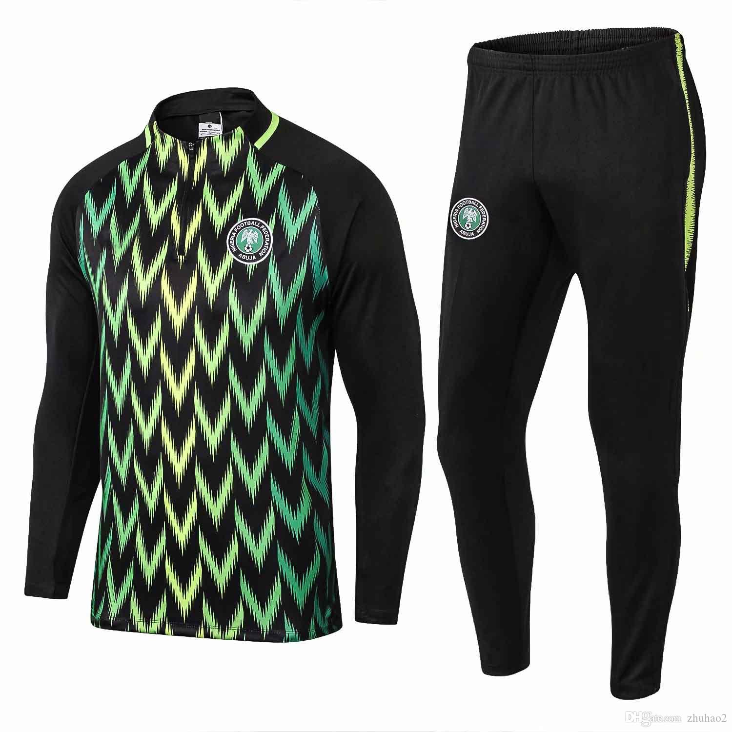 2019 2018 World Cup National Nigeria Long Sleeve Training Suit Soccer  Football Shirt Sportswear Chandal Set Tracksuit Custom Home IWOBI STARBOY  From Zhuhao2 ... 83e0bc50c