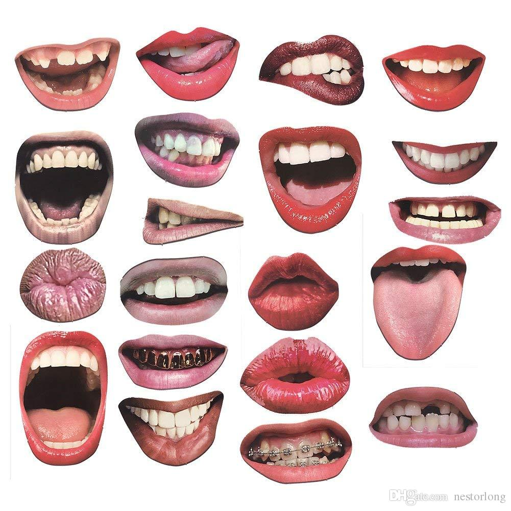 Lip Photo Booth Props On Sticks Diy Funny Mouth Realistic Party