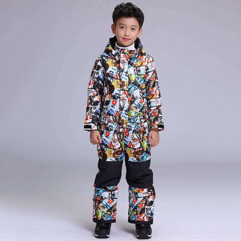 742126395 2019 GSOU SNOW Boys One Piece Ski Suit Windproof Waterproof Outdoor ...