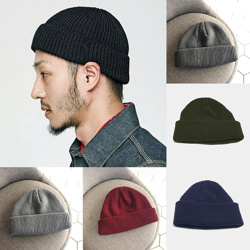 2019 2018 Fashion Men Knitted Skullies Caps Cotton Thread Hip Hop Hat Beanie  Women Casual Retro Warm Brimless Beanie Adult Skullcap From Marchnice ae9c8abb5be