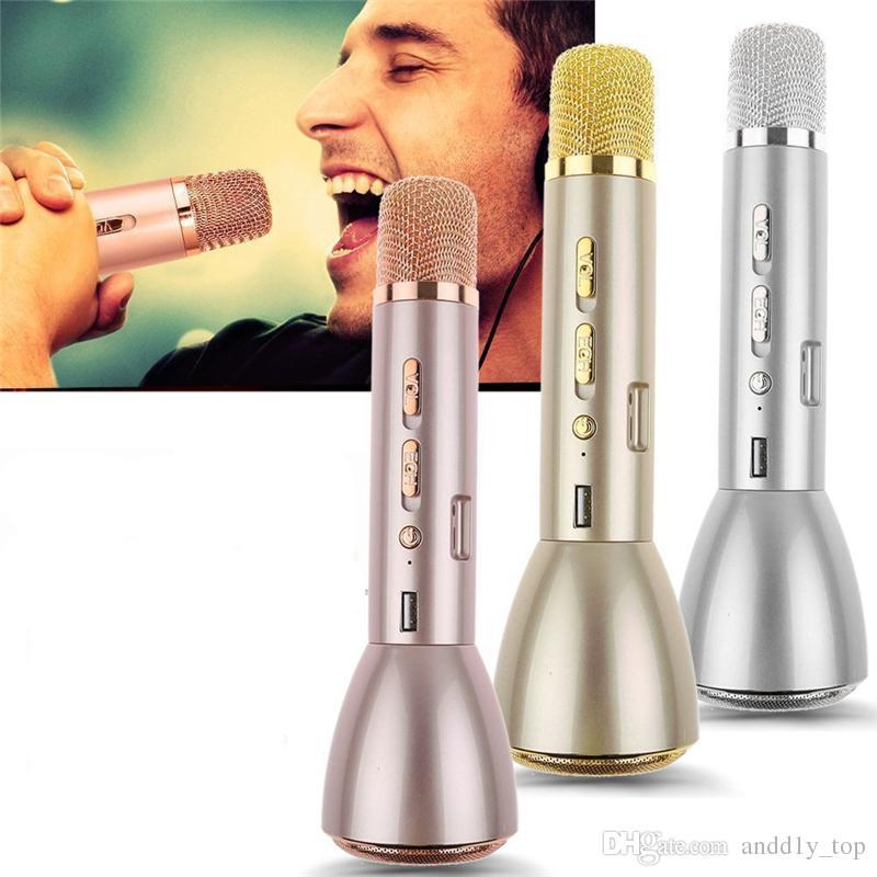 Bluetooth Mikrofon Lautsprecher K088 Mini Karaoke Lautsprecher mit Mikrofon KTV Wireless Mikrofon für Telefon Power Bank