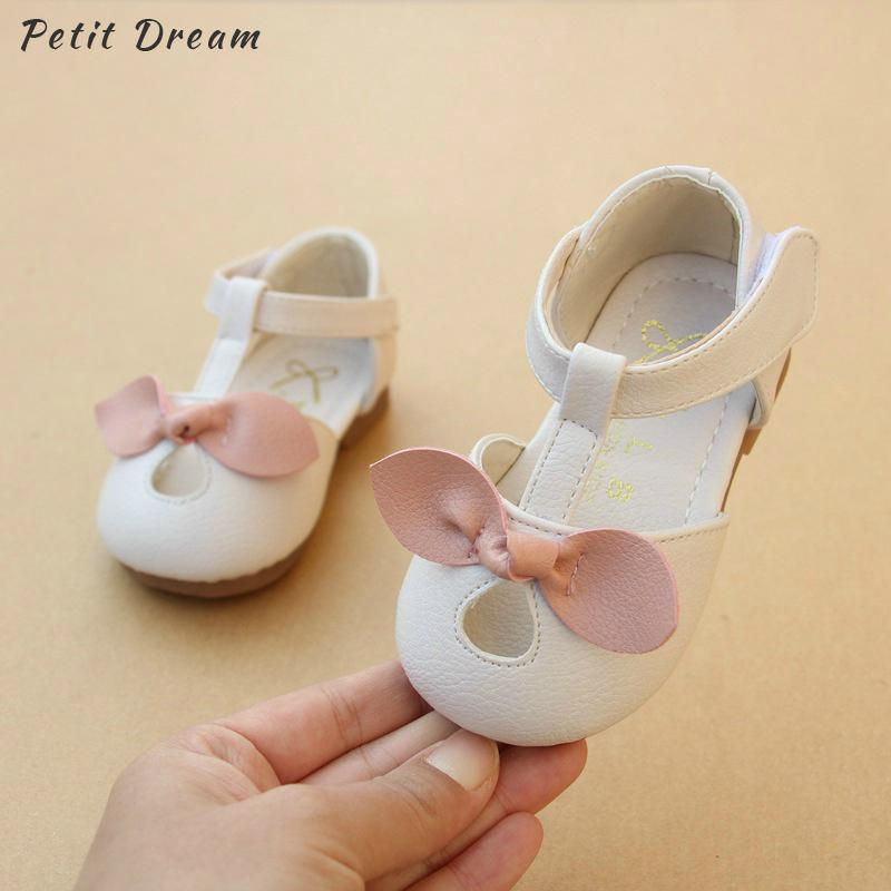 the latest aeed0 9bebf Petit Dream New Pink White Spring Summer Bow Neonate Scarpe casual 1 - 2  anni Toddler Infant Neonate morbide scarpe in pelle