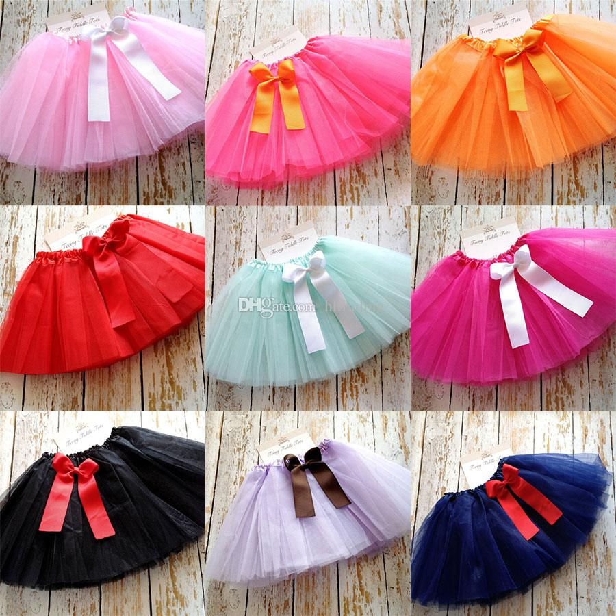 9ae17f8f71 2019 Newborn Infant Bow Tutu Skirts Fashion Net Yarn Baby Girls Princess  Skirt Halloween Costume Kids Lace Tutu Dress C3894 From Hltrading, $3.67 |  DHgate.