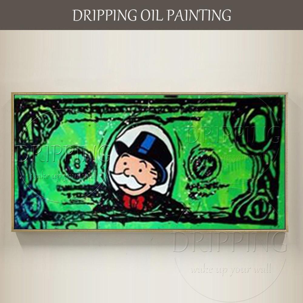 Satın Al Yetenekli Sanatçı El Boyalı Duvar Sanatı Graffiti Dolar