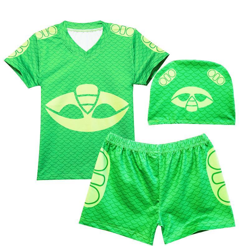 Boys Swimsuit Set Tops and Shorts with Swim Hat Baby Boys Board Shorts Baby Kids Clothing Boys Swimwear Summer Children Beachwear