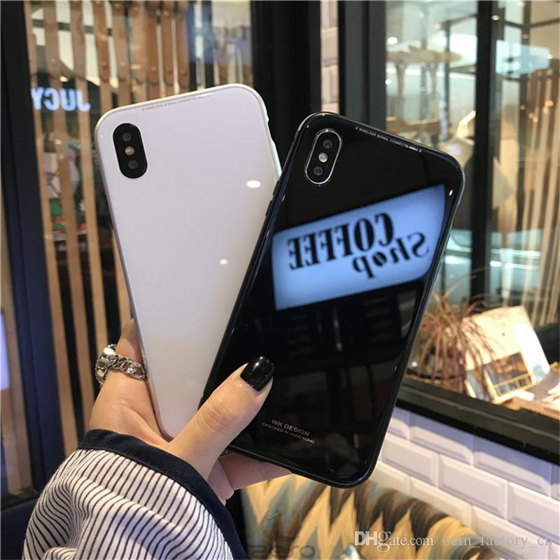 La caja del teléfono magnética de adsorción del metal para el iPhone 11 Frame Pro X Max Cobertura completa Xr aleación de aluminio con vidrio templado contraportada izeso